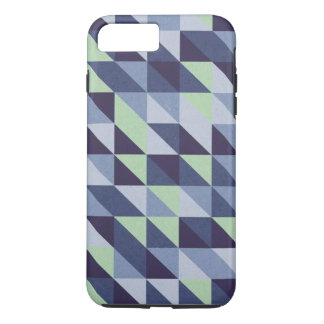 Blue Triangles on Tough Xtreme iPhone 8 Plus/7 Plus Case