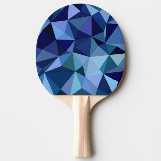Blue triangles Ping-Pong paddle