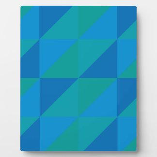 Blue Triangles Plaque