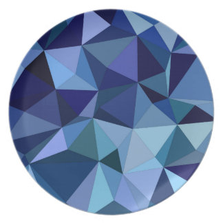 Blue triangles plate