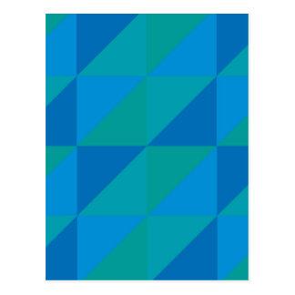 Blue Triangles Postcard