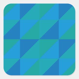 Blue Triangles Square Sticker