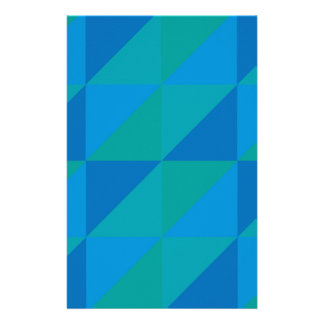 Blue Triangles Stationery