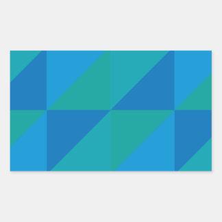 Blue Triangles Sticker