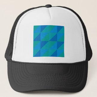 Blue Triangles Trucker Hat