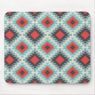 Blue Tribal Abstract Mouse Pad