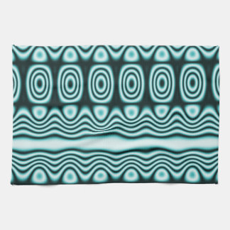 Blue Tribal Geometric Pattern Kitchen Towel
