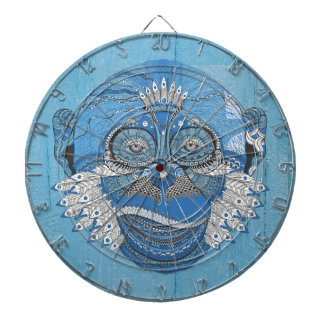 Blue Tribal Monkey Dart Board