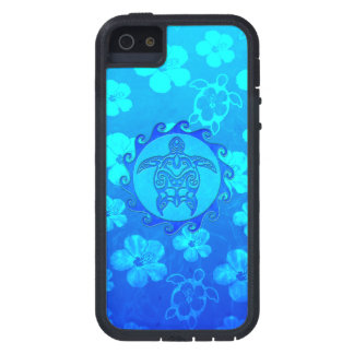 Blue Tribal Turtle Sun Case For The iPhone 5