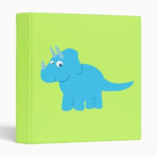 Blue Triceratops Dinosaur Vinyl Binder