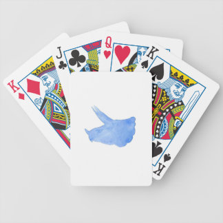 Blue Triceratops Head Bicycle Playing Cards