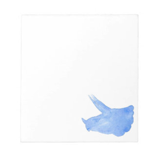 Blue Triceratops Head Notepad