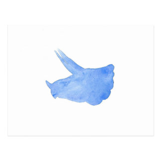 Blue Triceratops Head Postcard
