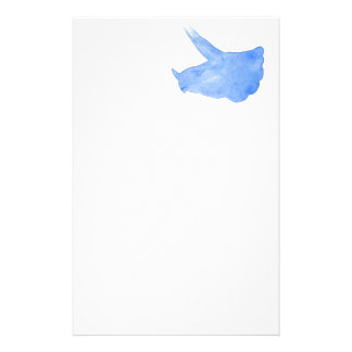 Blue Triceratops Head Stationery