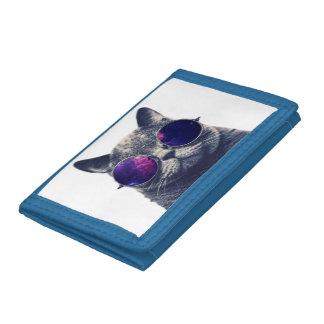 Blue TriFold Nylon Wallet