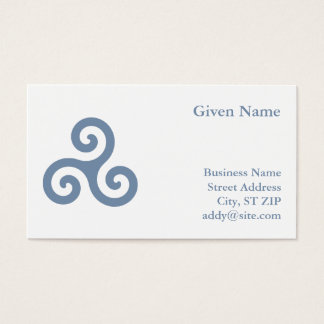 Blue Triskelion Business Card