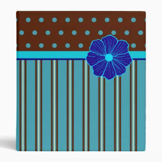 Blue Tropical Binder