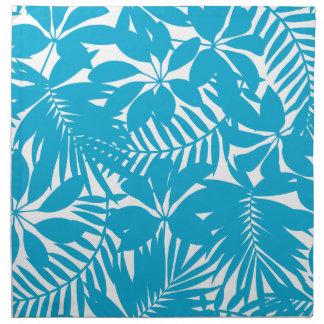 Blue tropical napkin