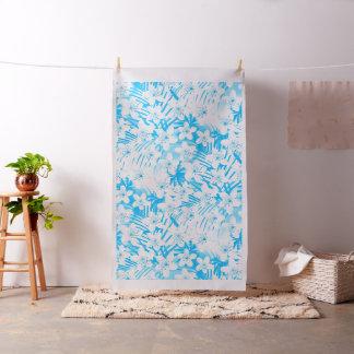 Blue tropical palm trees fabric