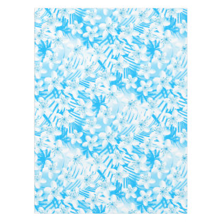 Blue tropical palm trees tablecloth