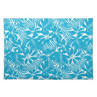 Blue tropical placemat