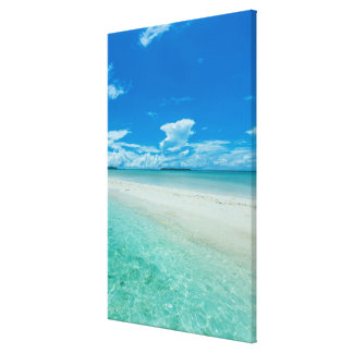 Blue tropical seascape, Palau Canvas Print