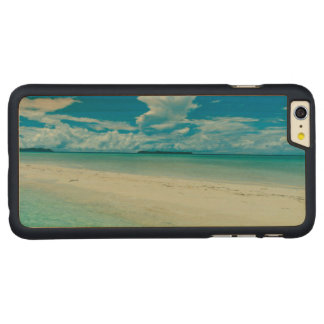 Blue tropical seascape, Palau Carved® Maple iPhone 6 Plus Case