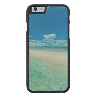 Blue tropical seascape, Palau Carved® Maple iPhone 6 Slim Case