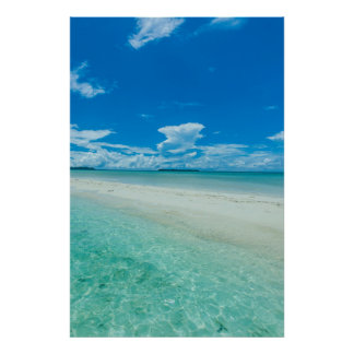 Blue tropical seascape, Palau Poster