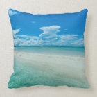 Blue tropical seascape, Palau Throw Pillow