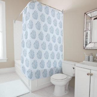 Blue Tropical Shower Curtain