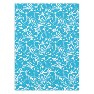 Blue tropical tablecloth