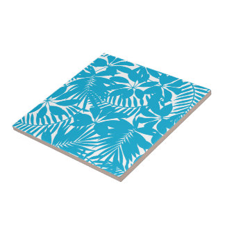 Blue tropical tile