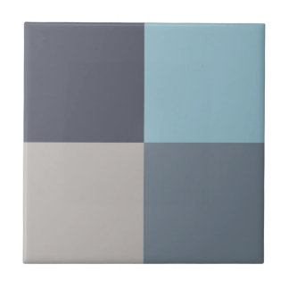 Blue Trout Gray Cotton Seed Tile