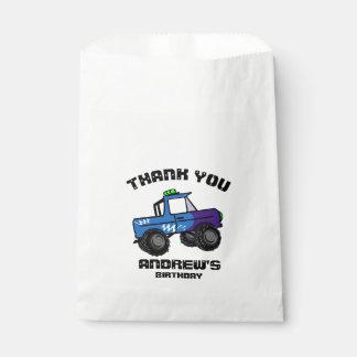 Blue Truck Birthday Monster Truck Favour Bag
