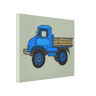 Blue truck canvas print
