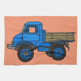 Blue truck kitchen towel