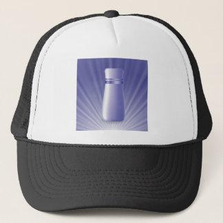blue tube trucker hat