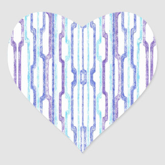 Blue Tubes Heart Stickers