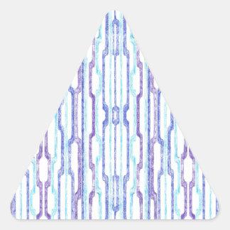 Blue Tubes Triangle Sticker