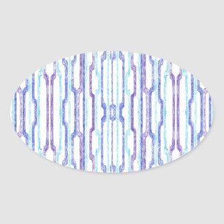 Blue Tubes Oval Stickers