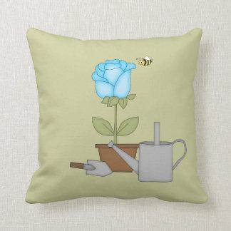 Blue Tulip Throw Pillow
