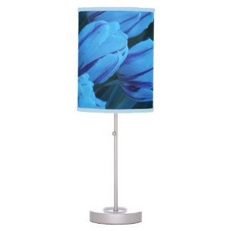 Blue Tulips Table Lamp
