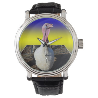 Blue Turkey Dimensional Art Watch