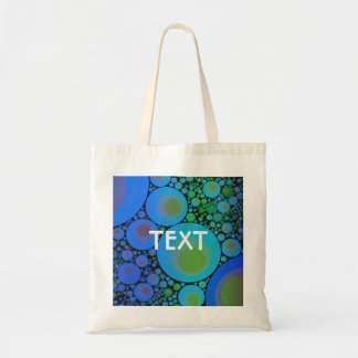 Blue Turquoise Abstract Pattern Budget Tote Bag