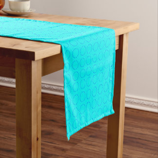 Blue/Turquoise Circular Pattern Table Runner
