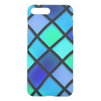 Blue Turquoise Stained Glass Style Case