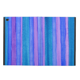 Blue, Turquoise, Violet Painted Stripes