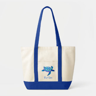 Blue Turtle tote bag