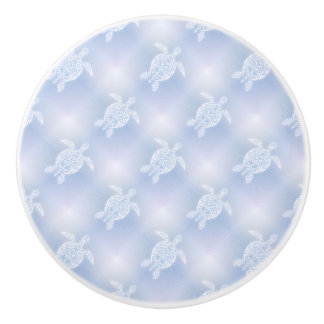 Blue Turtles Pattern Ceramic Knob